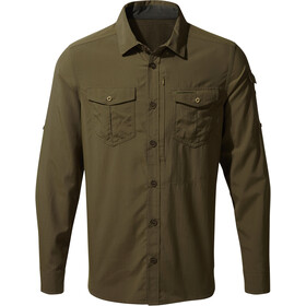 Craghoppers NosiLife Adventure II Longsleeve Shirt Heren, dark moss